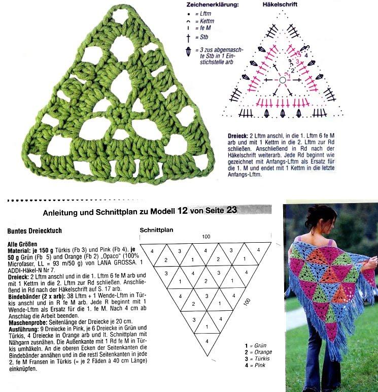 Chal Crochet Triangulos