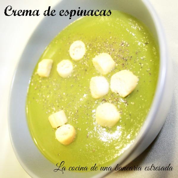 Receta de crema de espinacas con Thermomix y tradicional