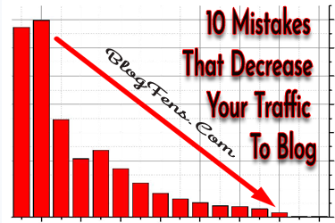 10 mistakes that can greatly reduce the traffic of your blog.