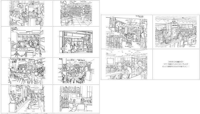 イラストレーター、イラストレーター検索、イラストレーター一覧、イラスト制作、 イラスト、店舗、カット、挿絵、商店街、店内、 紹介、モノクロ、白黒、細かい、線画、手描き、 フリーハンド、ペン画、