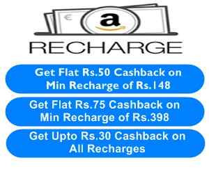 Amazon mobile recharge offers and deals