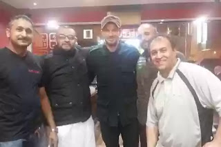 David Beckham enjoys meal in curry house paradise in longsight