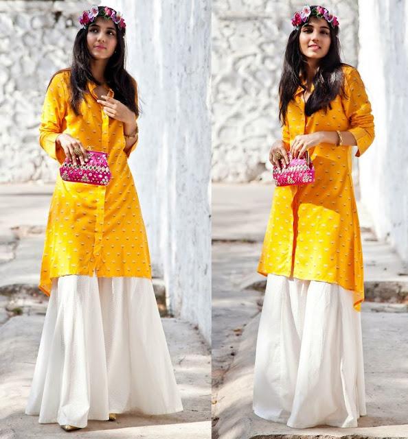 Dress for Mehendi Function