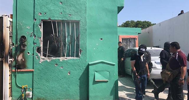 (VIDEO..) El comando armado de sicarios disparaba desde una vivienda pero fue reventada dejando a 9 sicarios muertos en Saltillo, Coahuila