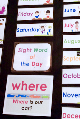 sight word of the day