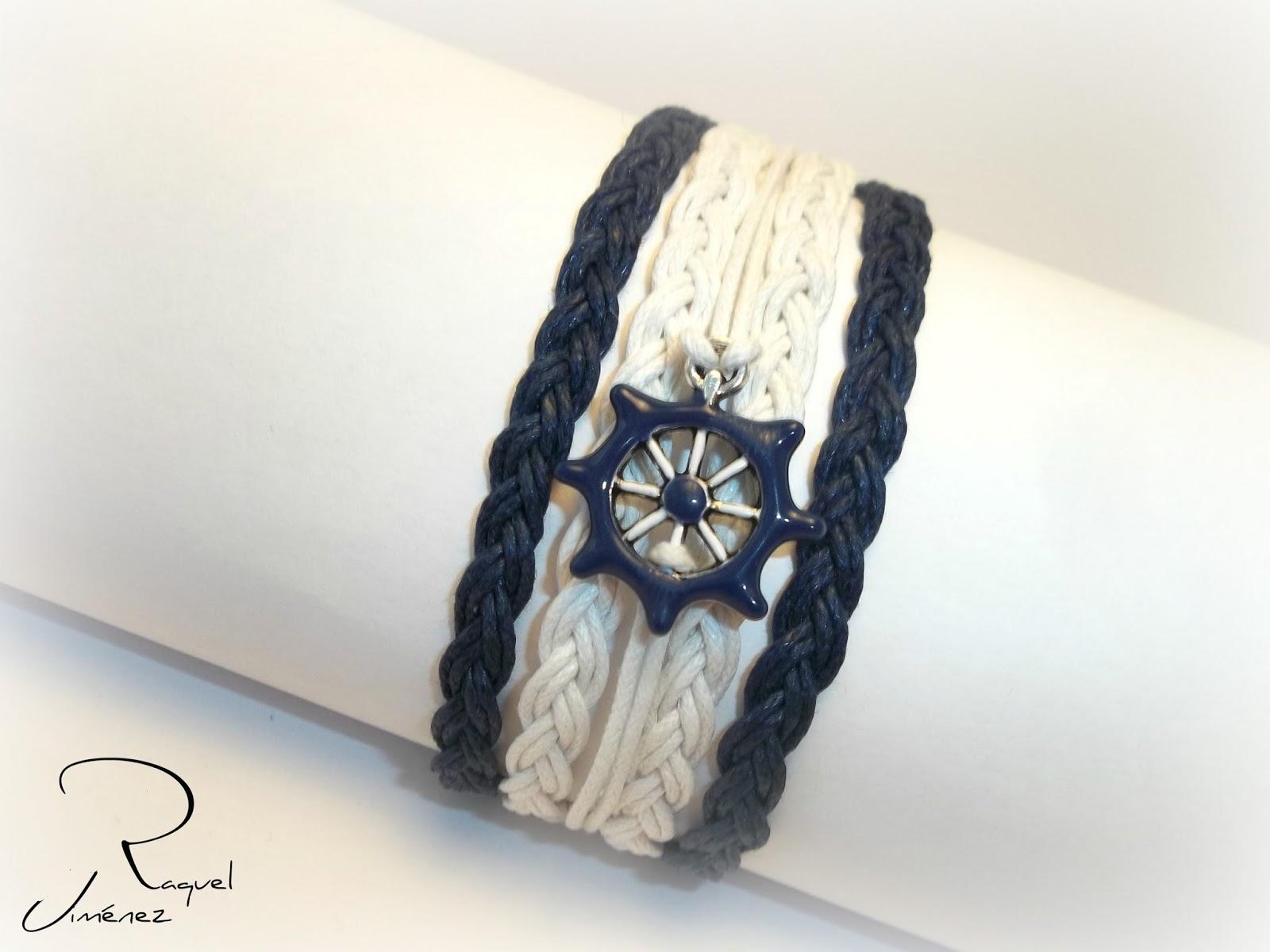 pulsera navy azul y balnca