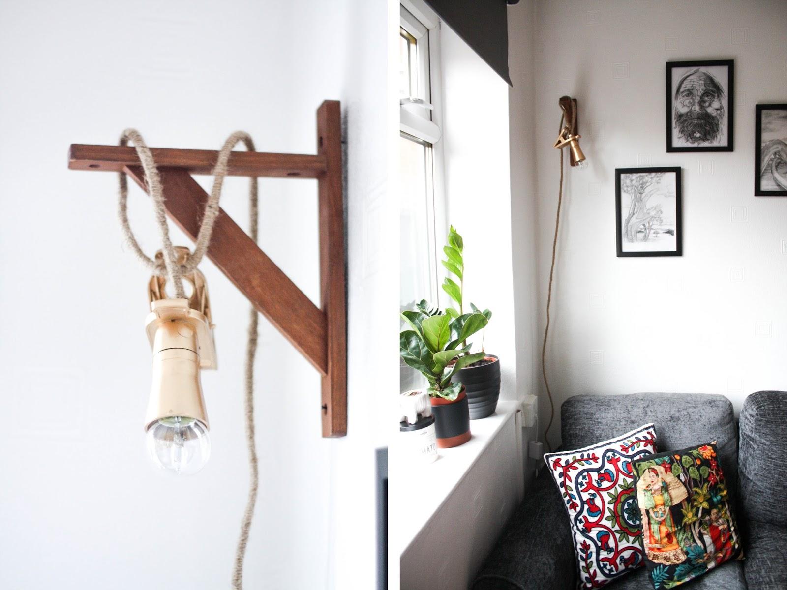 Cord lamp DIY