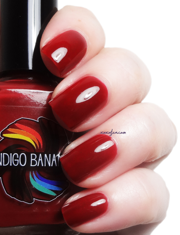 xoxoJen's swatch of Indigo Bananas Scarlet Red