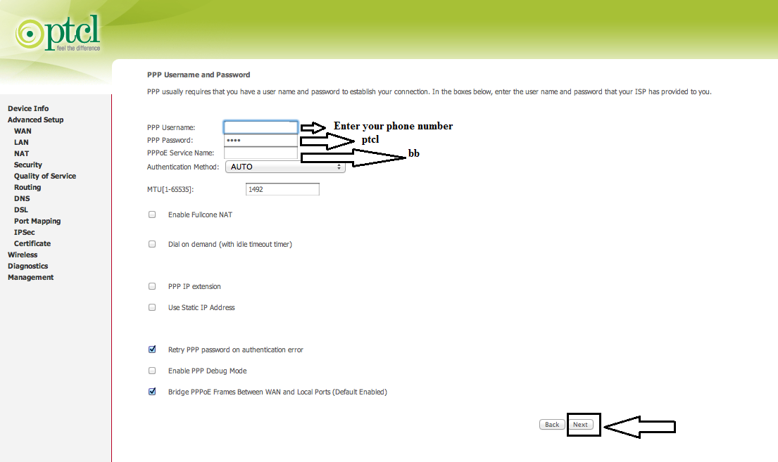 iT HaCks: How to configure and reset PTCL Dsl modem