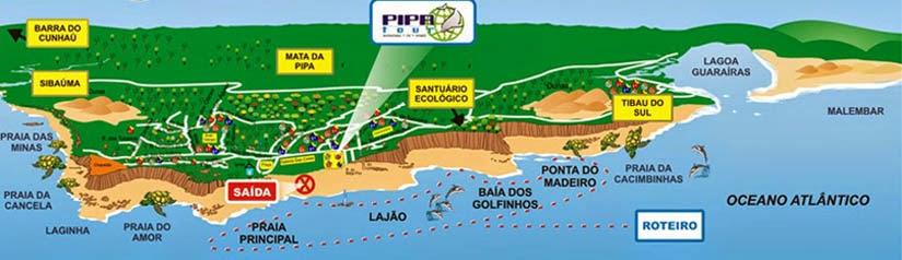 Mapa - praias de Pipa Rio Grande do Norte
