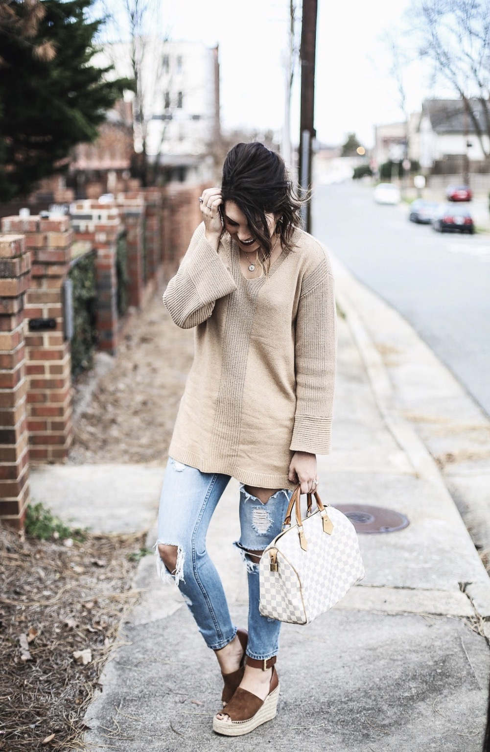 marc fisher espadrilles, neutral outfit