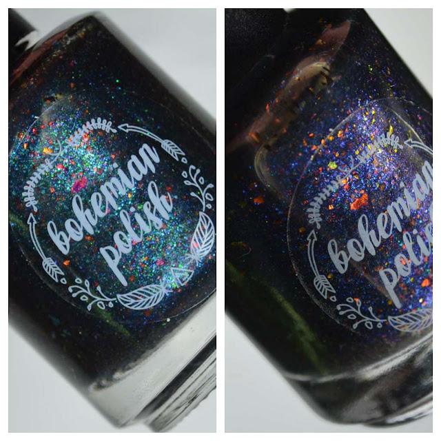 black color shifting jelly nail polish