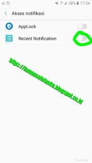 Akses notifikasi