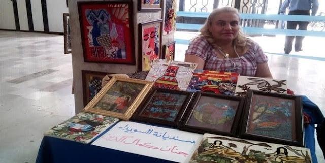 جنان كمال الدين سيدة من السويداء تؤسس مشروعا إنتاجيا بلغة الفن.