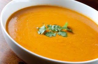 Roasted sweet potato and carrot soup