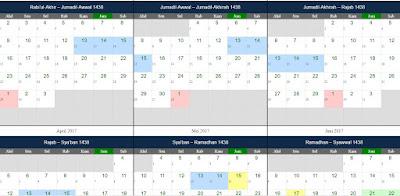 Nama-Nama Bulan dalam Kalender Islam