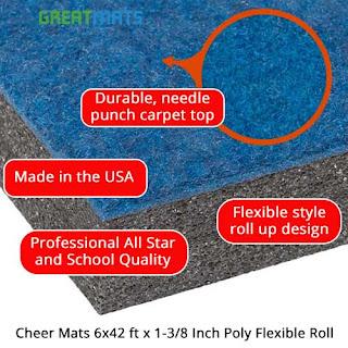 Greeatmats Cheer Mats infographic gymnastics