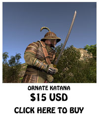 For Sale Ornate Katana