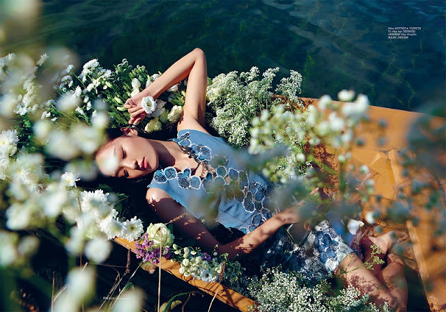 Floral Dreams in Elle Vietnam, January 2013 - high fashion editorial