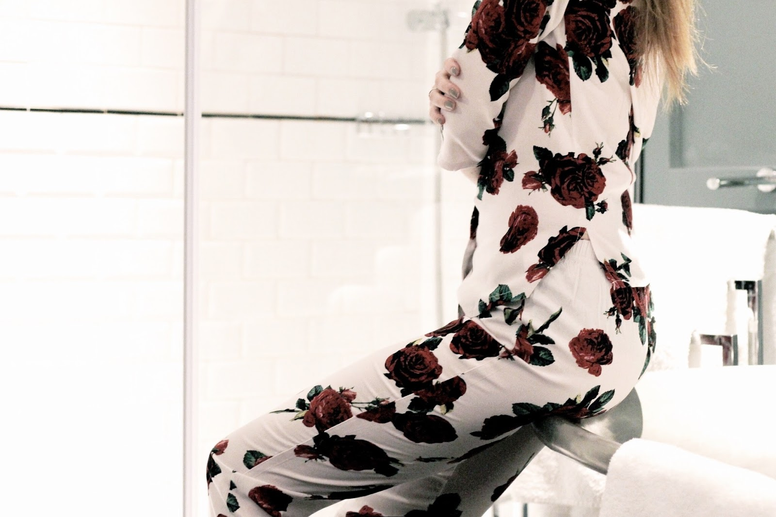 ASOS Valentines Romantic Rose Pyjama Set
