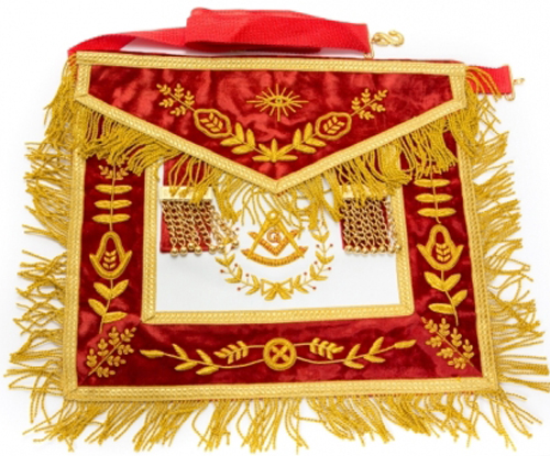 Hand Bullion Past Master Embroidery Aprons Masonic Aprons Past