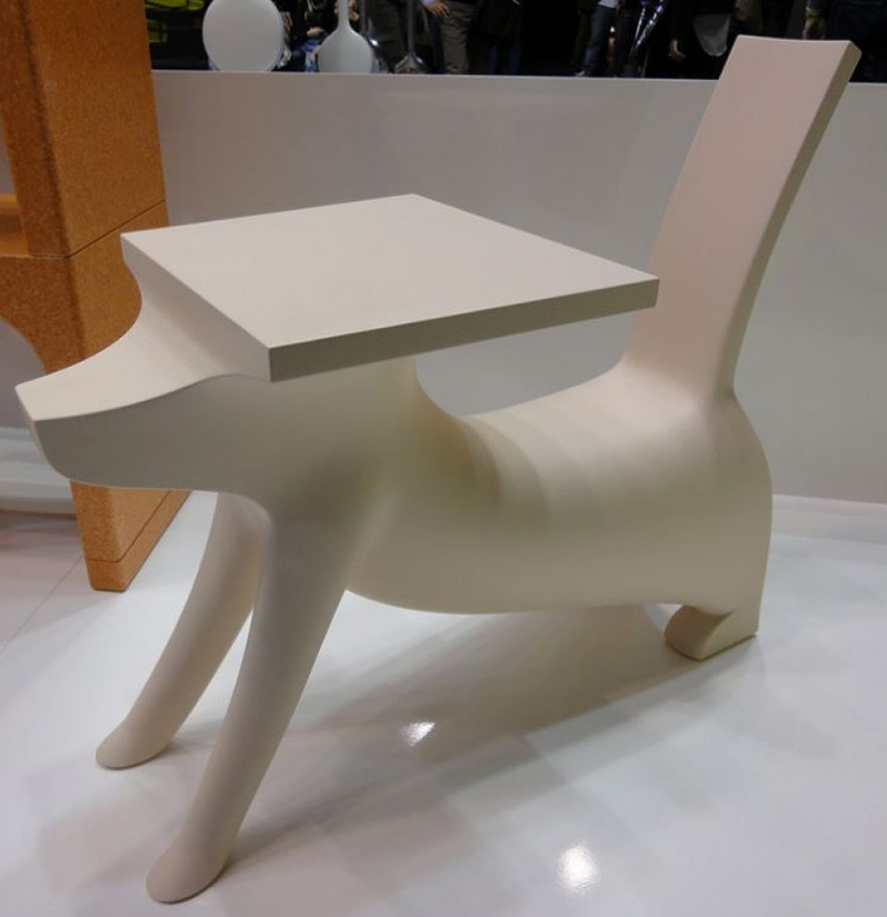 desk chair modern zero gravity lawn target if it's hip, here (archives): a dog-shaped children's desk, le chien savant, by philippe ...
