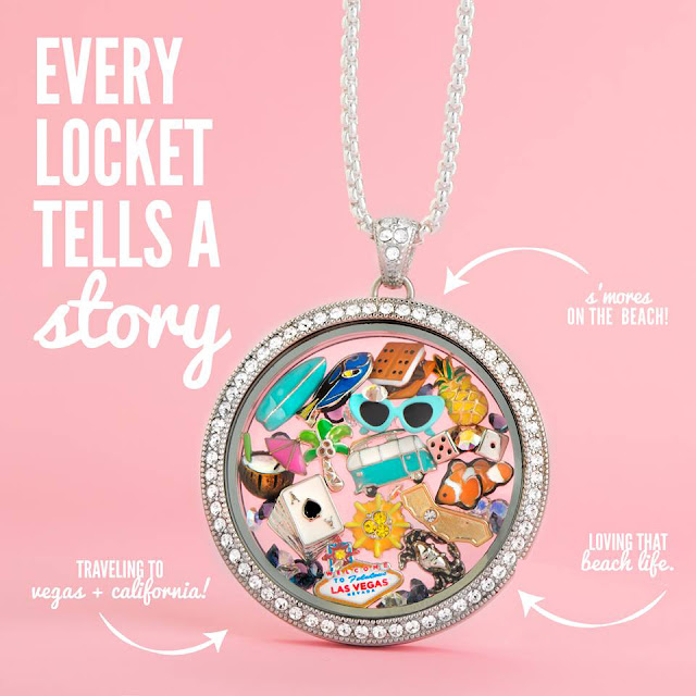Summer Fun Filled Origami Owl Living Locket available at StoriedCharms.com