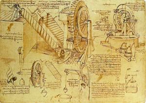 sistema irrigación, Da Vinci, inventos