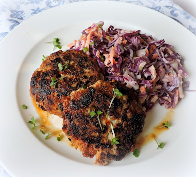 Turkey Burgers with Cranberries & Goat's Cheese