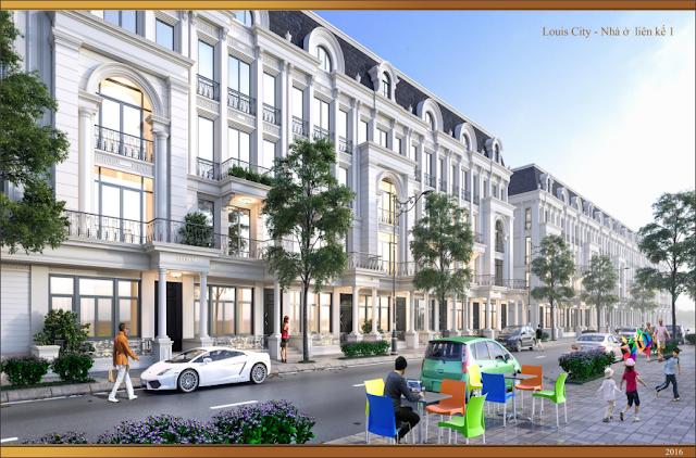 Thiết kế nhà liền kề Louis City Đại Mỗ