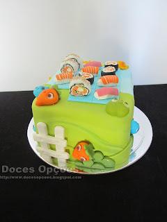 bolo aniversário Sushi Farm Heroes