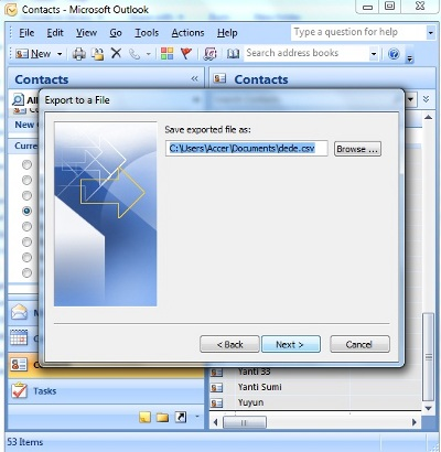 how to add contacts in ms outlook 2007