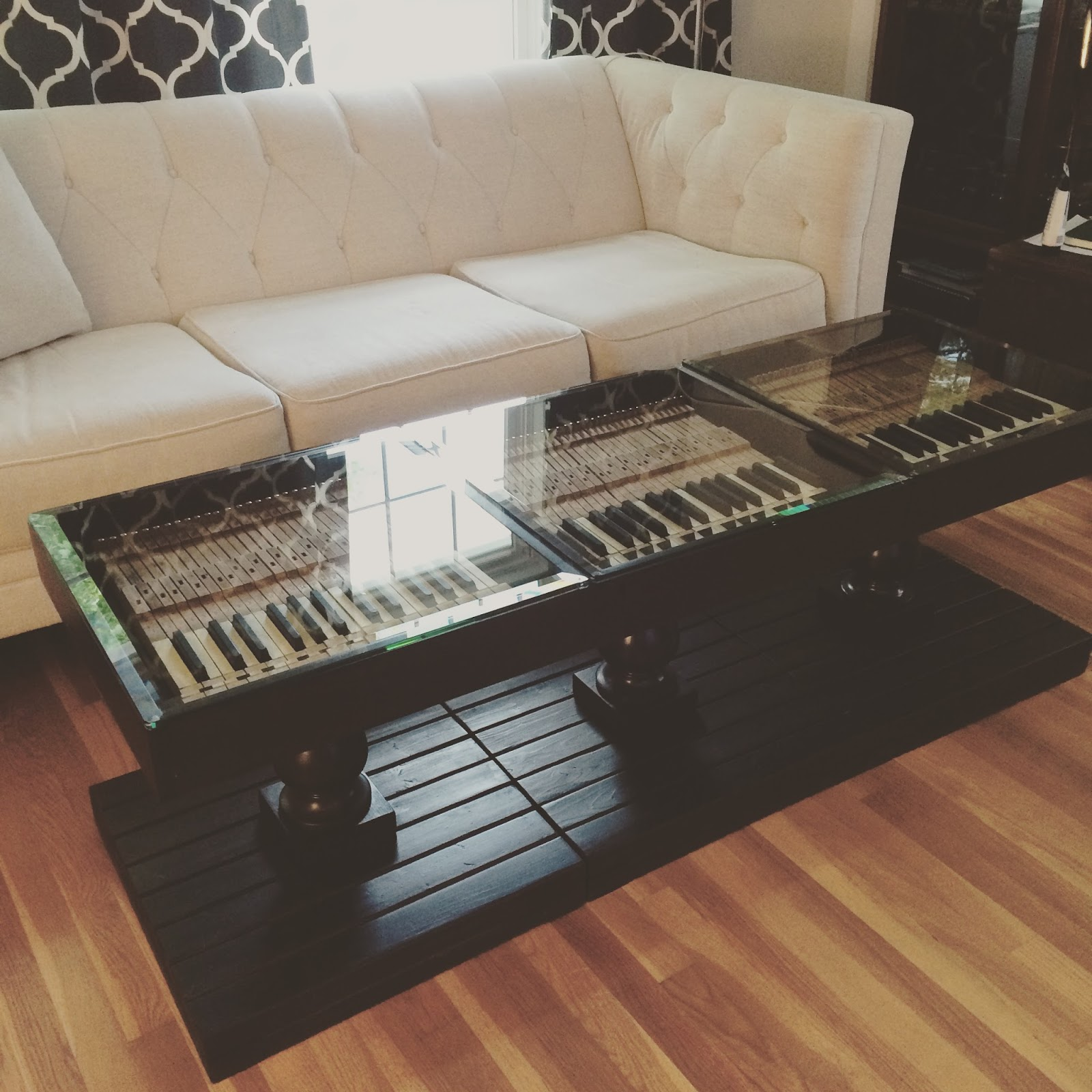 Industrial blush gallery gallery piano key accent tables geotapseo Images