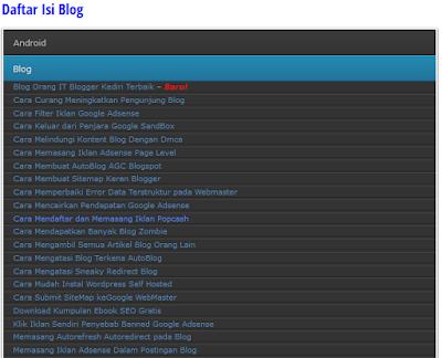 Cara Membuat Sitemap Keren Blogger