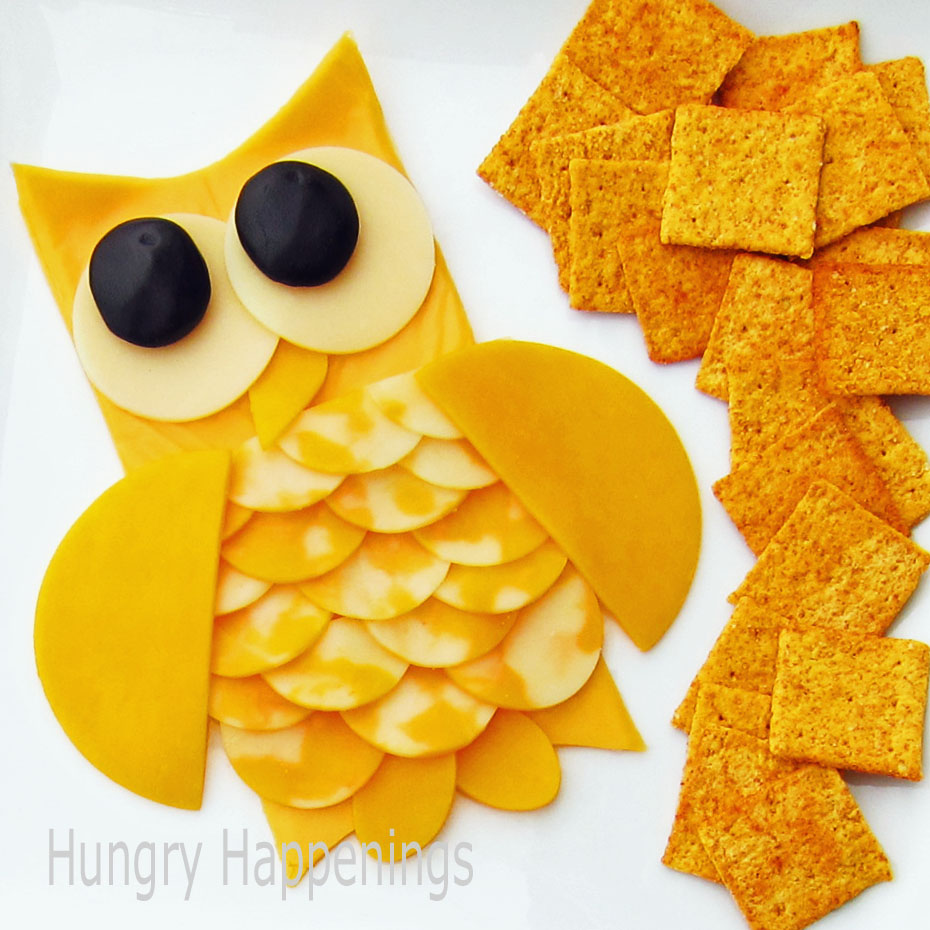 Cheese Slice Owl A Fun Halloween Appetizer Hungry Happenings