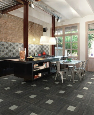 ceramic tile flooring patterns for kitchens