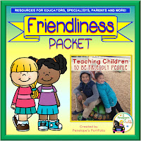 A friendliness teaching packet including printables, worksheets, posters, and activities