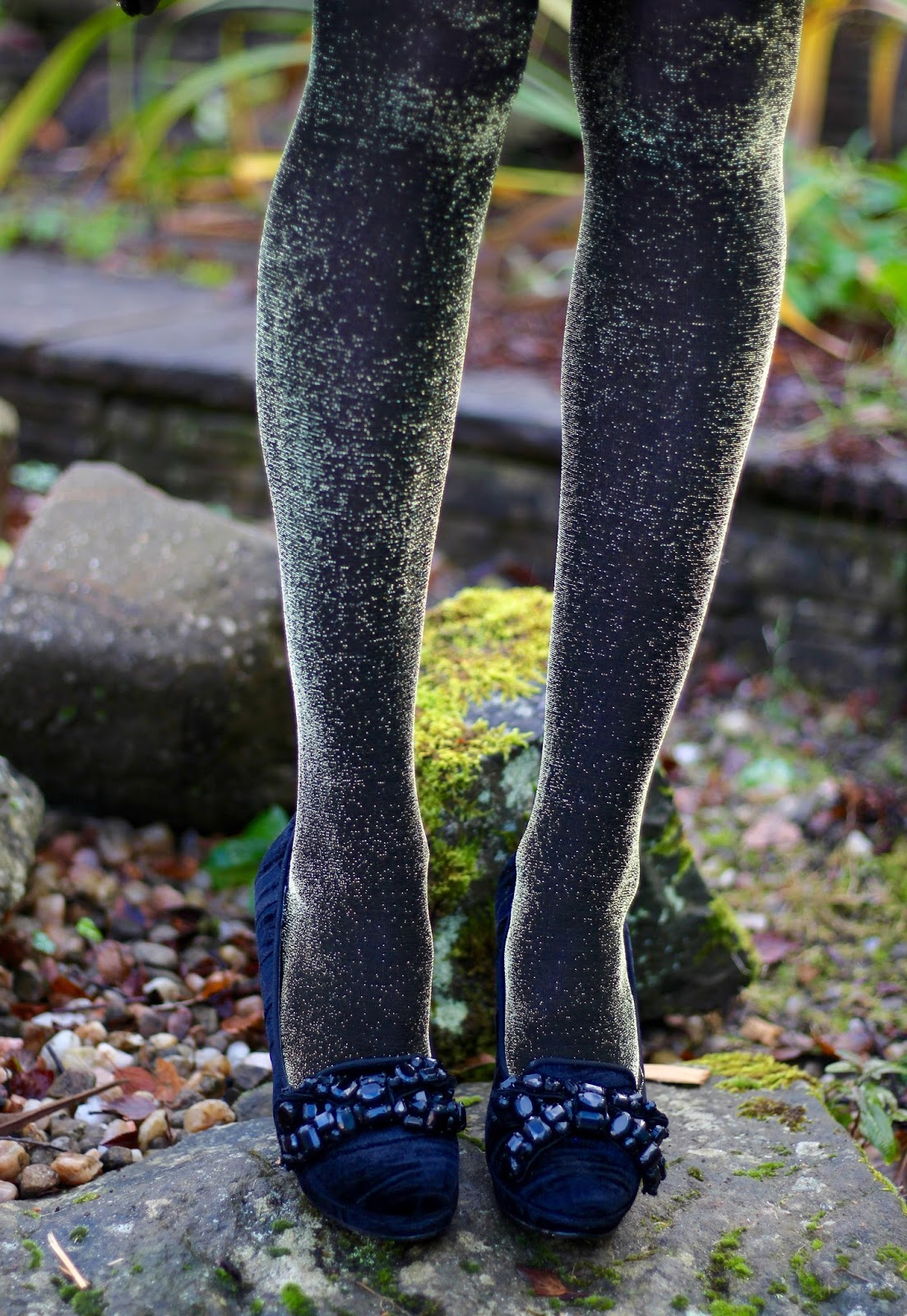 Work-to-party part 2   Velvet, lace-up and Lurex tights   Fake Fabulous