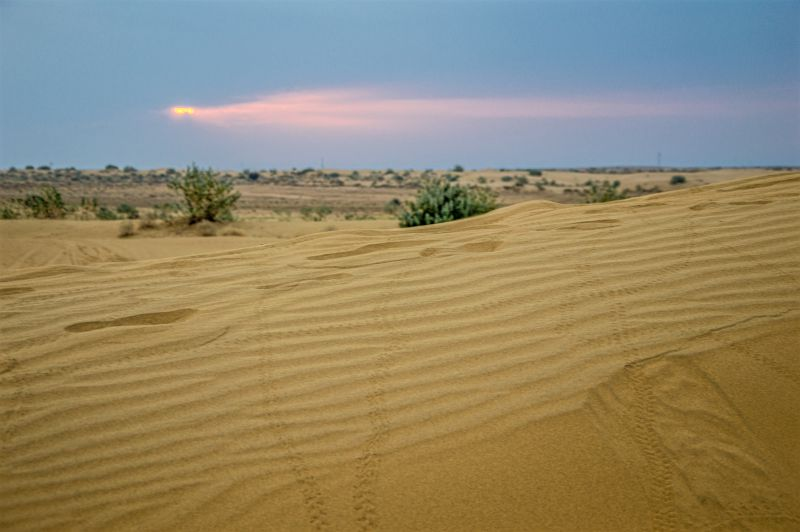 Sunrise and Sand Dunes