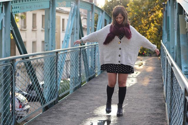 cuissardes-chaussettes-hautes-gilet-maille-robe-pois-zara-echarpe-pimkie-look-mode-fashion-blog