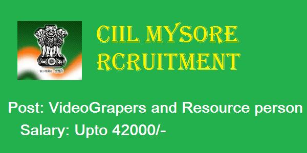 CIIL Recruitment mysore, CIIL Application from, Government jobs in Karnataka