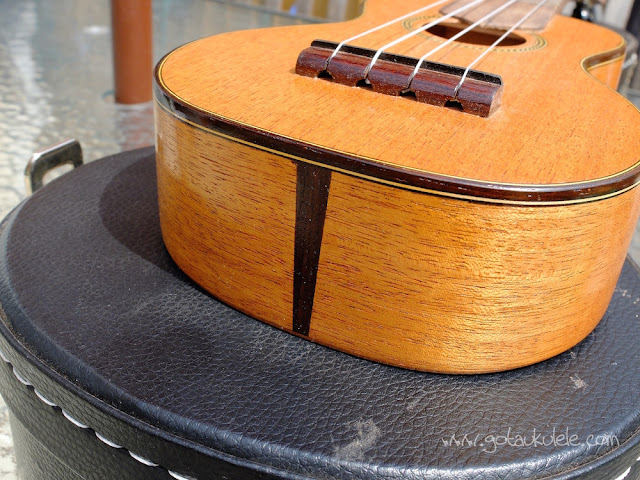 Wunderkammer Ike Soprano ukulele tail and bridge