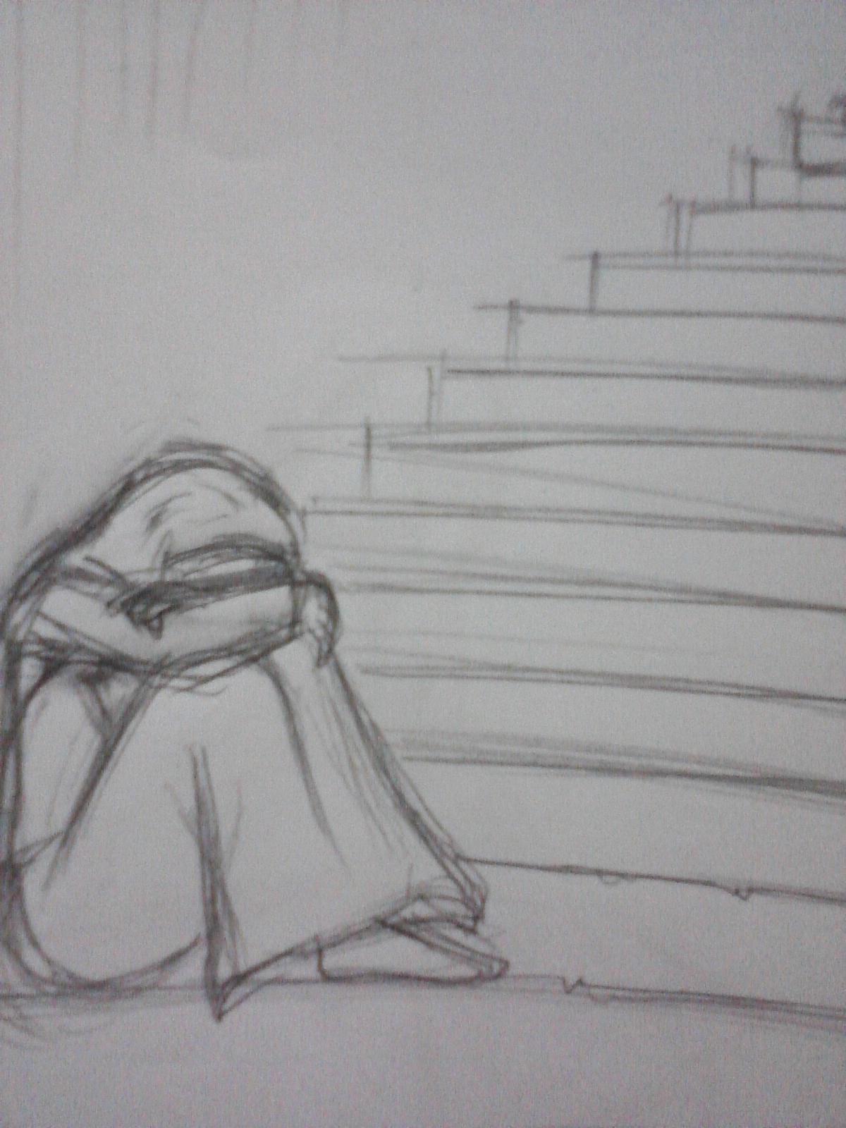 67 Gambar Kartun Sketsa Sedih Gratis Terbaru
