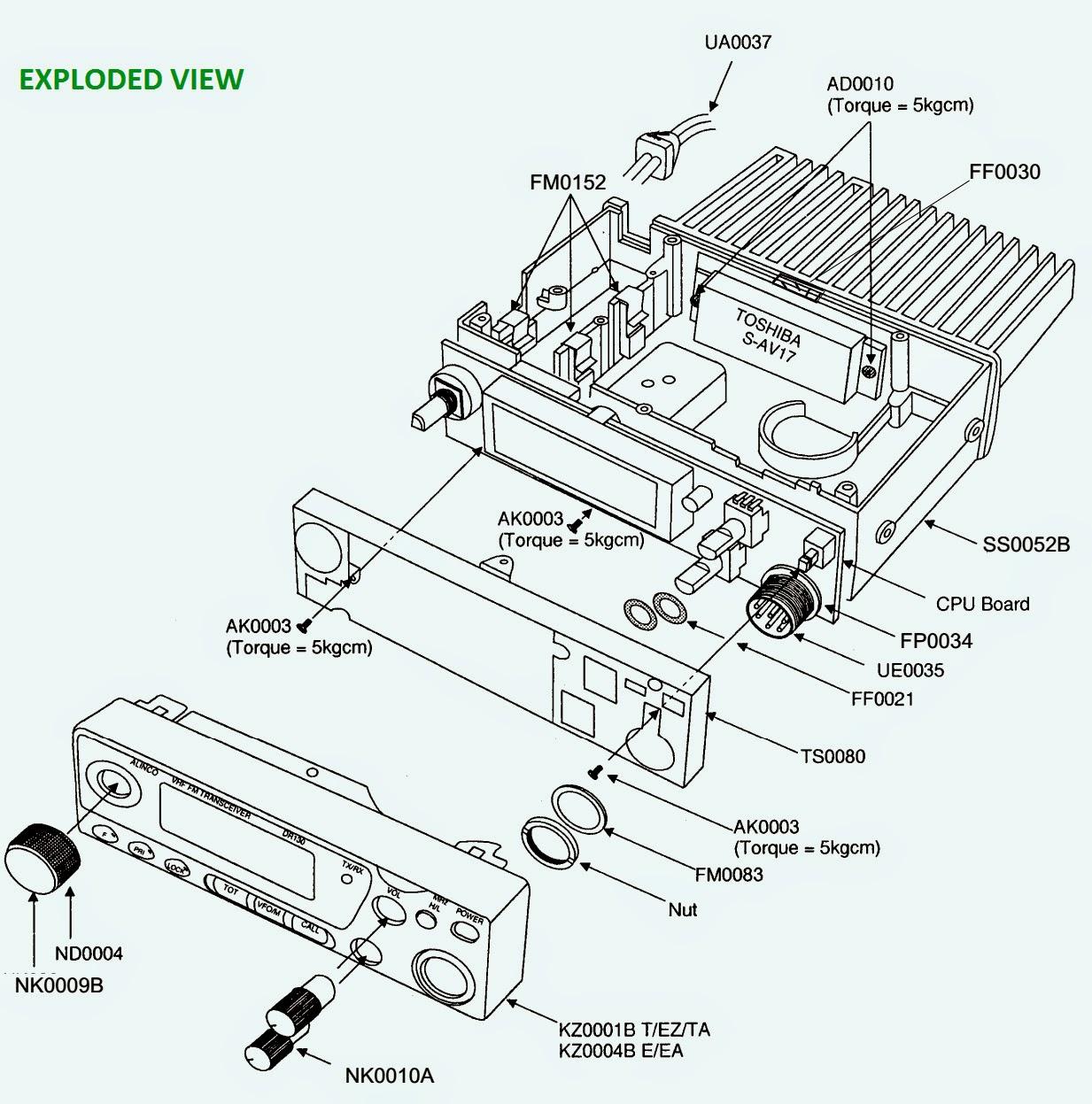 Alnico Ham Radio Vhf Base Dr 130 Schematic