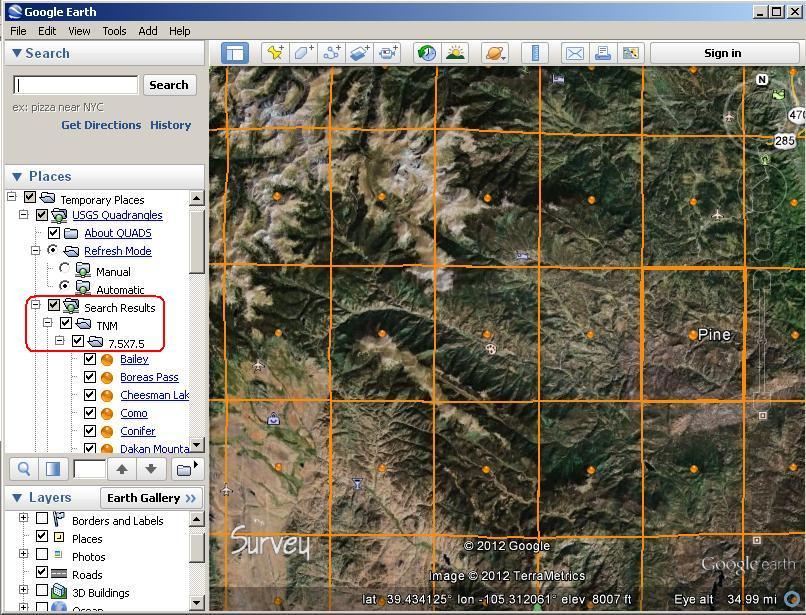 KBSquatchBlog: Google Earth and 7 5 minute quads
