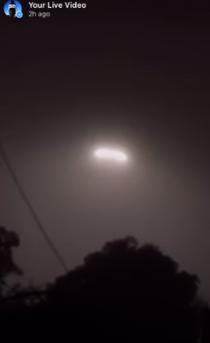 UFOs filmed live on Instagram over Mexico.