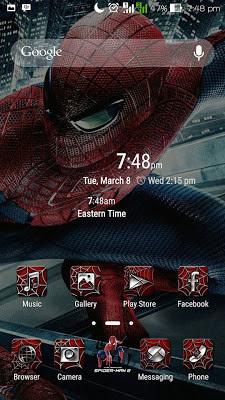 Tema Spiderman Untuk Asus Zenfone