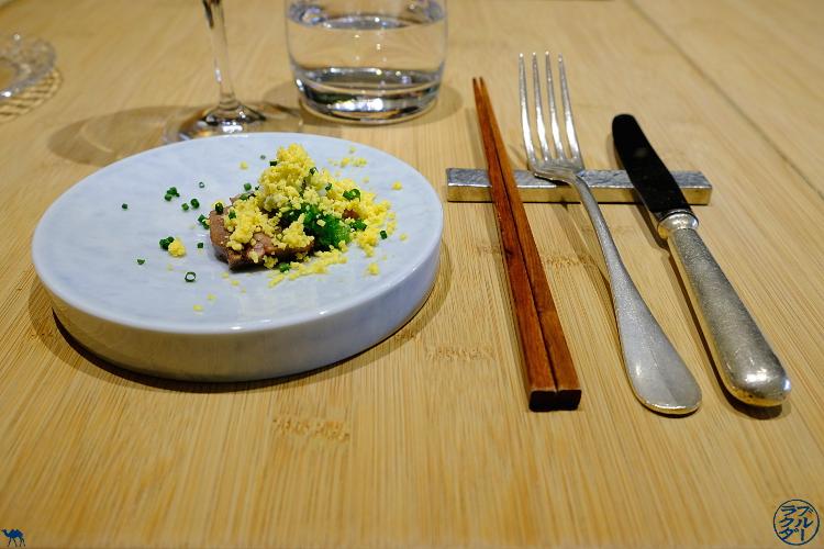 Le Chameau Bleu - Blog Gastronomie et Voyage   - Amuse bouche du chef Toyomitsu Nakayama chez Toyo Paris