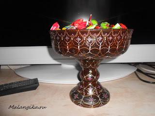 росписная ваза