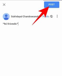 Google+ me bold, italic post kaise kare 2